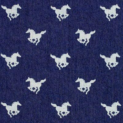 Denim Little Horse 2 - Cotton - Polyester - Spandex - navy blue