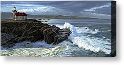 Point Cabrillo Lighthouse with Surf Canvas Print by Paul Krapf
