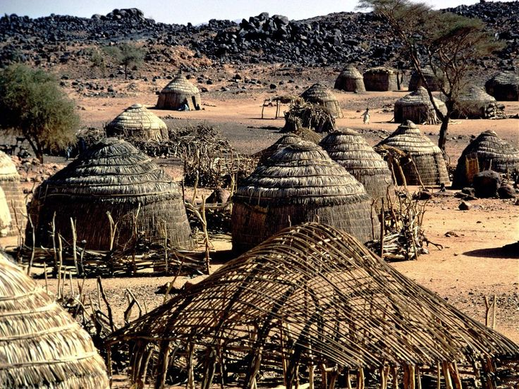 A lovely village. Primitive tribe architecture, Nigeria, Africa