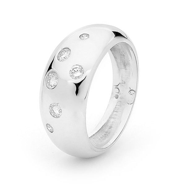 White Gold Diamond Eclipse Ring