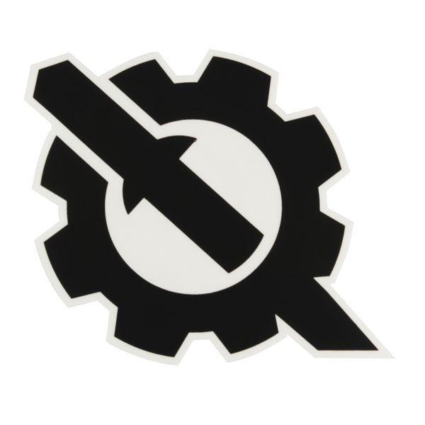 Gear Logo Sticker - Black