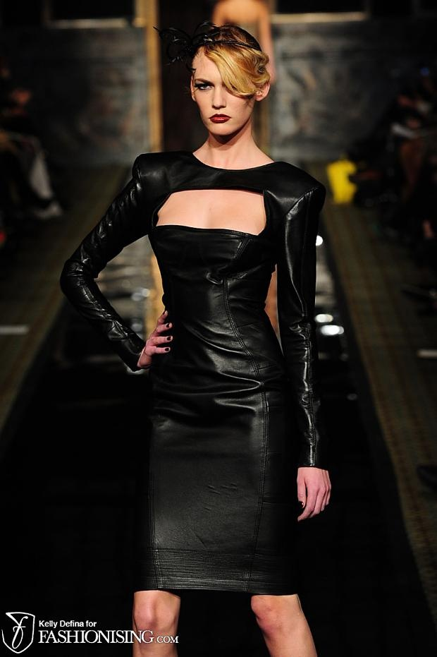 There is something so sexy and appealing about this little leather number. I really love the cut-out over the bust.