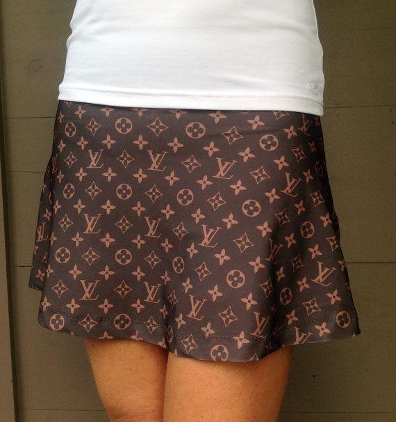 Tennis Skirt Running SKirt Gorgeous Designer by LuckyDotDesigns