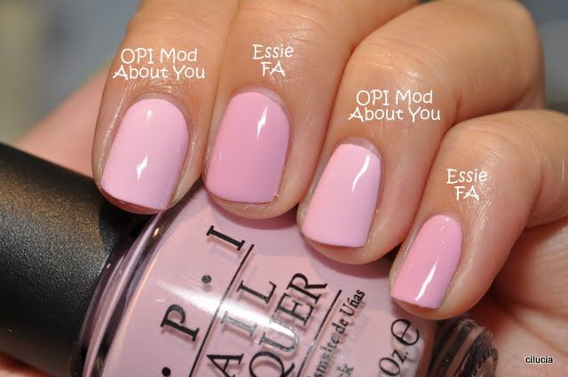 Love these!! (Essie French affair, OPI Mod about you)