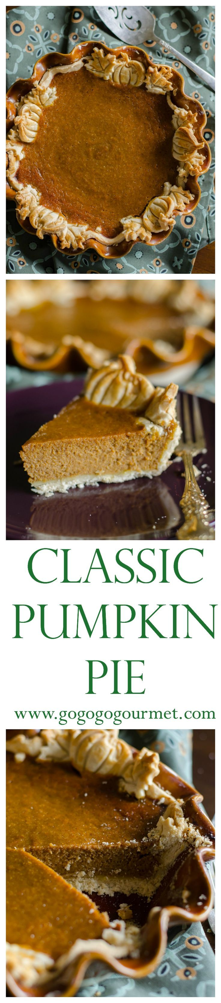 No reason to gussy up pumpkin pie- this classic pumpkin pie is best! | Go Go Go Gourmet /gogogogourmet/