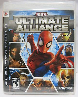 Marvel Ultimate Alliance PS3 Sony PS3 Game Brand New Factory Sealed