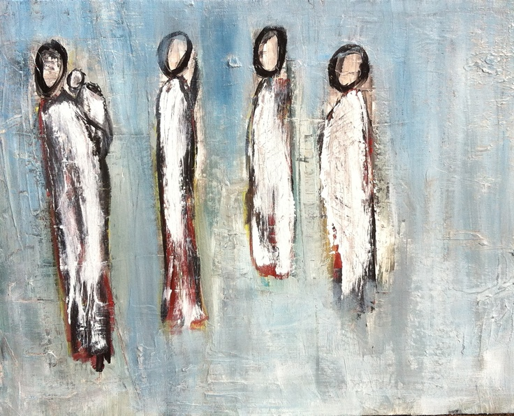 The Women  Acrylic Painting by Anitta Jonas  60 x 40 cm