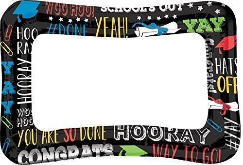 """Inflatable Grad Frame for Graduation Party Photo Booth Prop Decoration Foil 23"""" x 16"""""""