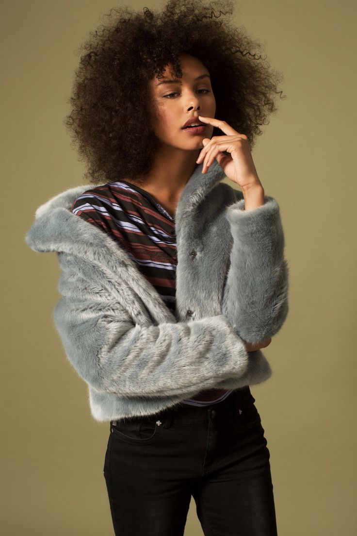 Campaign Fall | Fake furr Coat | Blue | Colorful | Inspired