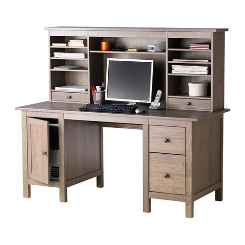 HEMNES Desk with add on unit grey brown IKEA Furniture Pinterest Extra storage
