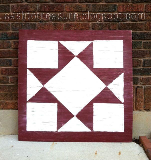 wooden quilt block | Crafts | Pinterest