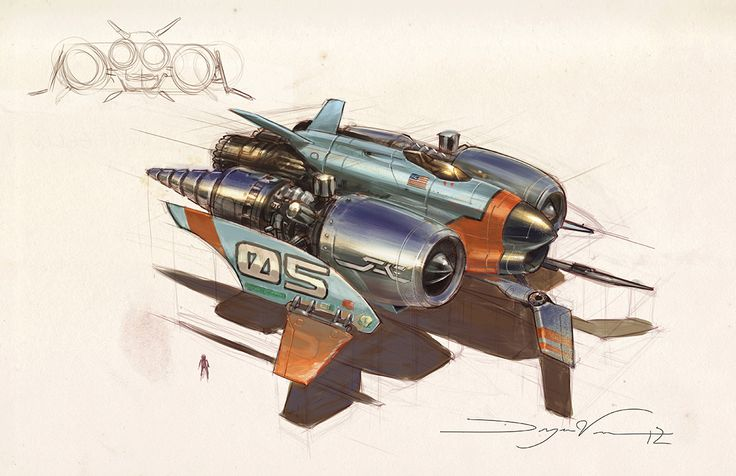 concept ships: Spaceship paintings by Dwayne Vance