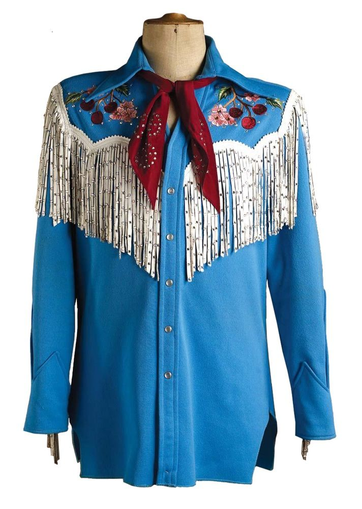 A custom western shirt from Nudie's Rodeo Tailors