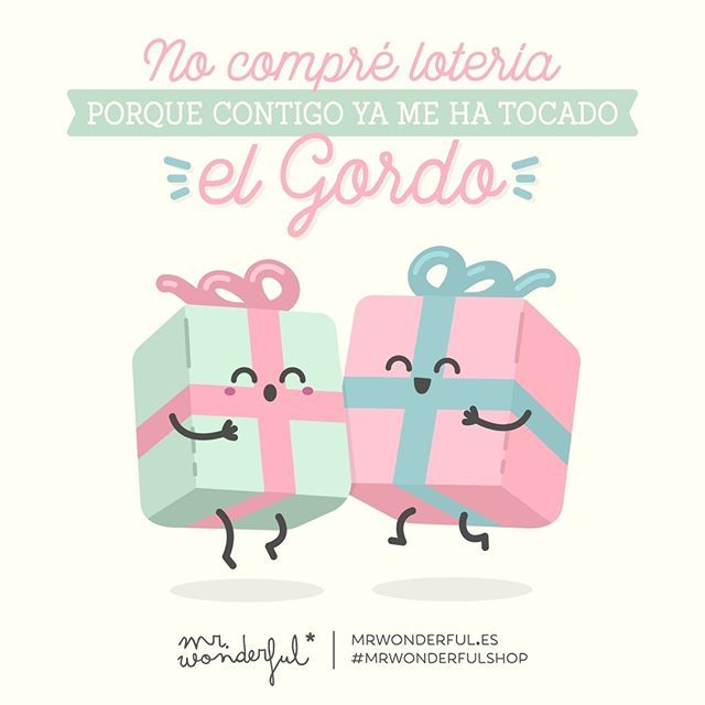 ¡Contigo lo tengo todo! #mrwonderfulshop #felizjueves I never buy lottery tickets because I have already won the jackpot with you. In you I have everything!