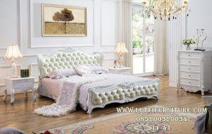 Set Tempat Tidur Putih Minimalis Ukir Mewah