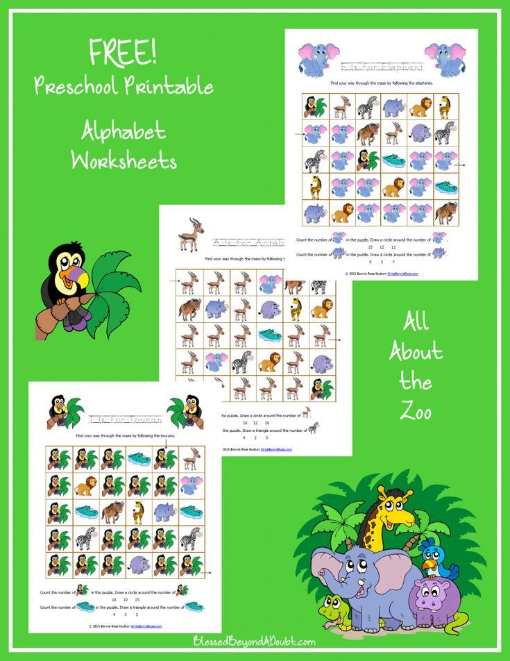 free zoo themed printable alphabet worksheets for preschool preschool activities activities. Black Bedroom Furniture Sets. Home Design Ideas
