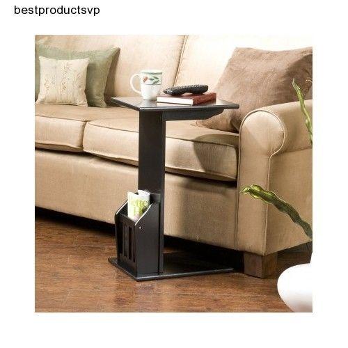 #Ebay #Magazine #Rack #Table #End #Side #Black #Sofa #Snack #Chairside #Holder #Slide #Under #Couch #SouthernEnterprises #Transitional