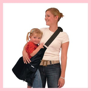 this is awesome....bag that also works as a carrier for littles