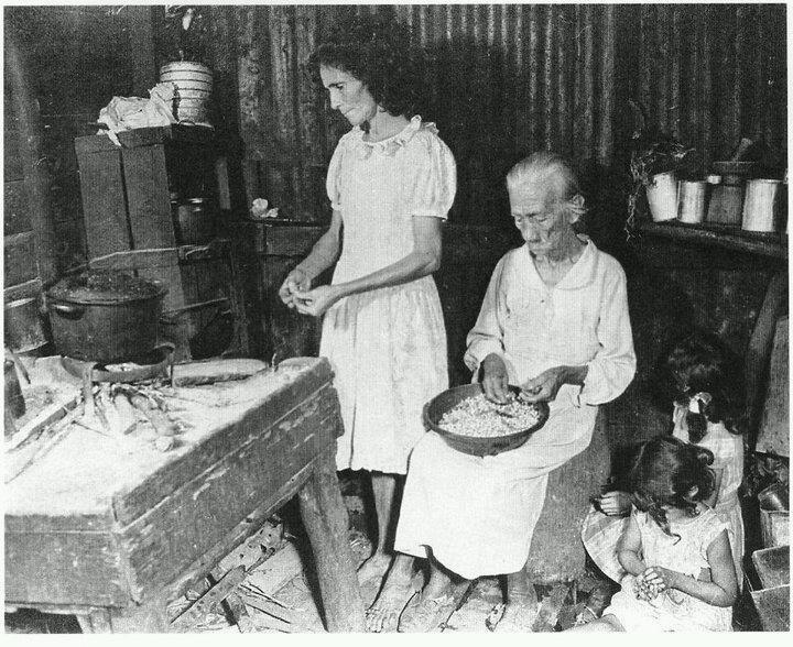 Kitchen in Puerto Rico, 1920.