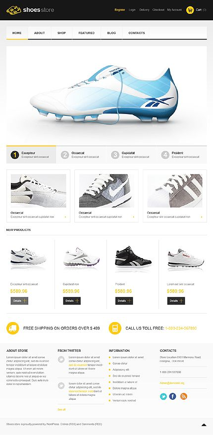 Shoes Store Jigoshop Themes by Mercury