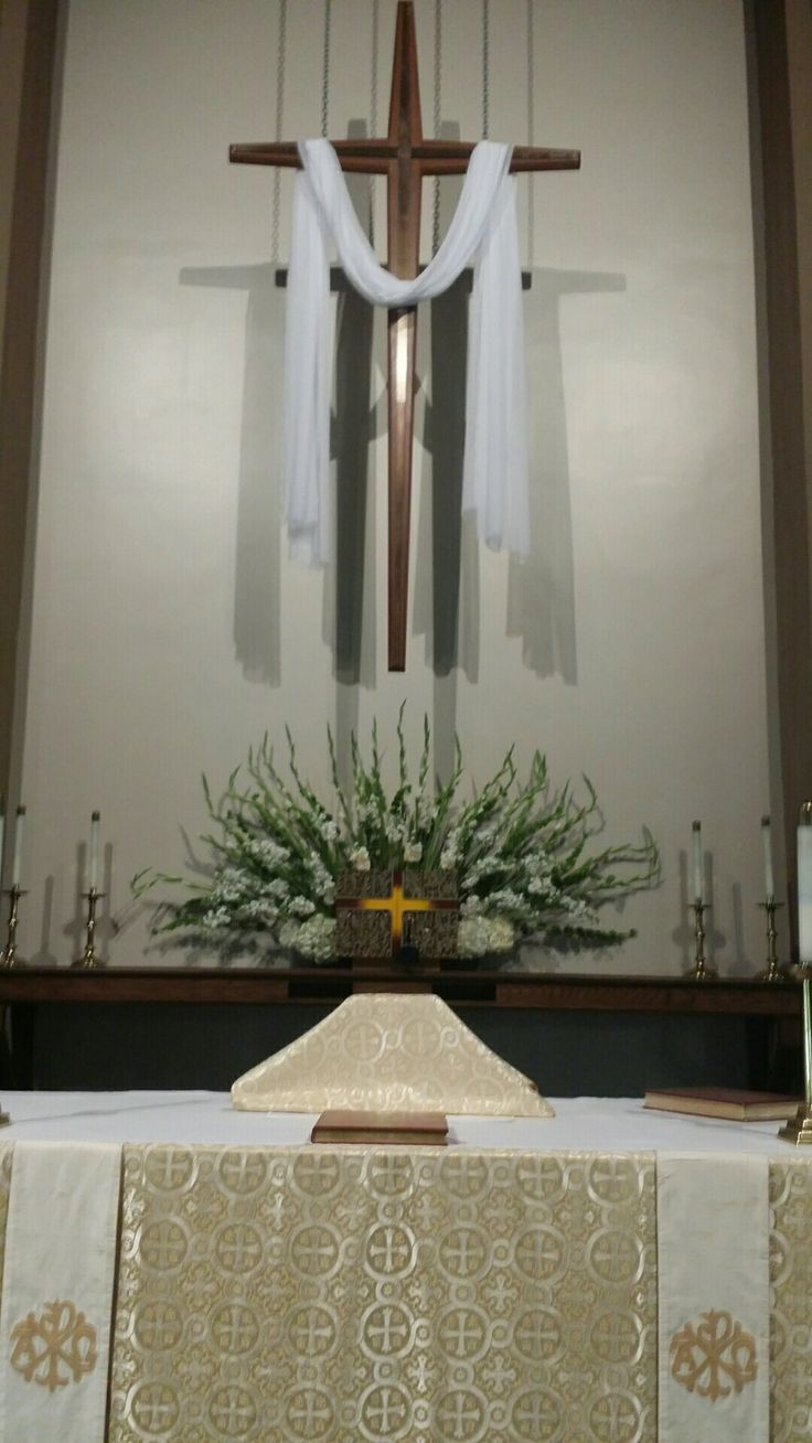 All Saints' Day white altar flowers