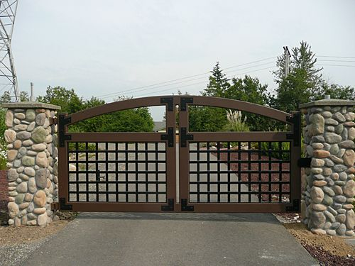 108 best images about gates on pinterest rusted metal for Front gate entrance ideas