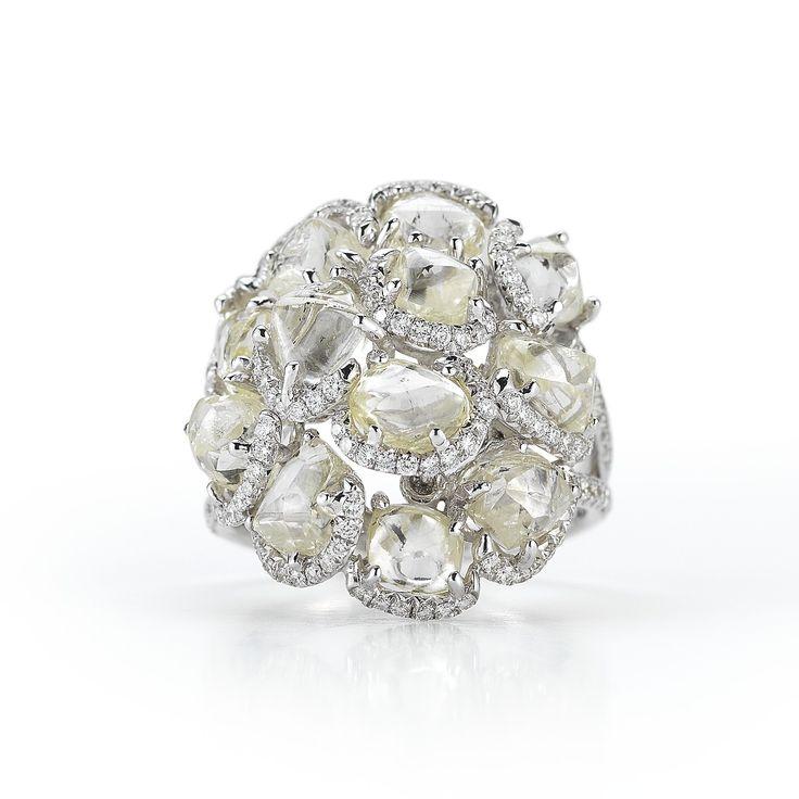 ditrjewelry: Uncut, rough diamond cocktail ring....