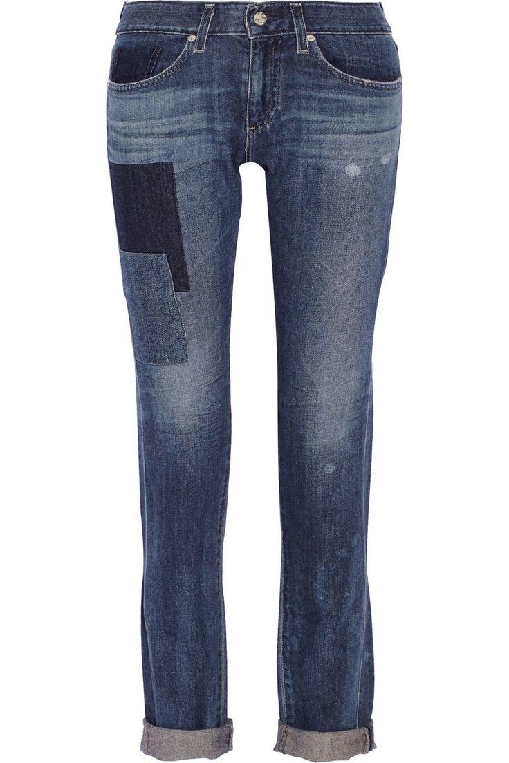 AG JEANS Piper mid-rise slim-leg jeans $105.75 http://www