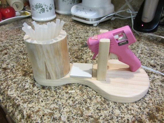 I need someone to build this for me!!!!! Glue Gun Holder No Mess Great for Any Crafter by FunSurprises, $20.00