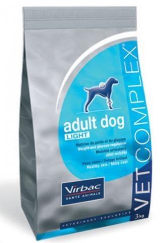 Pienso para perros Virbac vet complex adult dog light. Pienso para perros: Pienso para perros Virbac vet complex adult dog light. Alimento / Comida para perros indicada para perros adultos de todas las razas y tamaños. Ingrediente principal: Carne de ave. En Petclic ahorras mas de un 35% en todas tus compras de piensos y alimentación para perros Todas las garantías. Toda la seguridad que necesitas y mas de 5.000 productos de alimentación rebajados. www.petclic.es