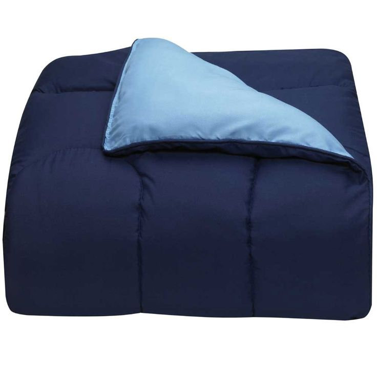 Light Blue and Navy College Classic Twin XL Comforter | University of Michigan Dorm Bedding and Bath | OCM.com