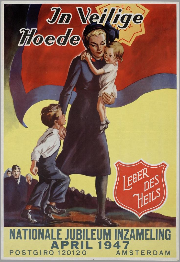 Plakat der Heilsarmee in den Niederlanden