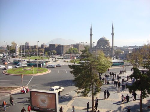 Centre of Kayseri city in Turkey