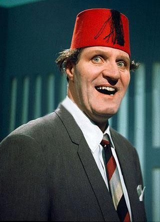 Tommy Cooper 15 April 1984, Cooper collapsed and soon after died from a heart attack in front of millions of television viewers, midway through his act on the London Weekend Television variety show Live From Her Majesty's, transmitted live from Her Majesty's Theatre. His stage persona required that his act intentionally go wrong for comic purposes, leading to some initial uncertainty about whether this collapse was real.