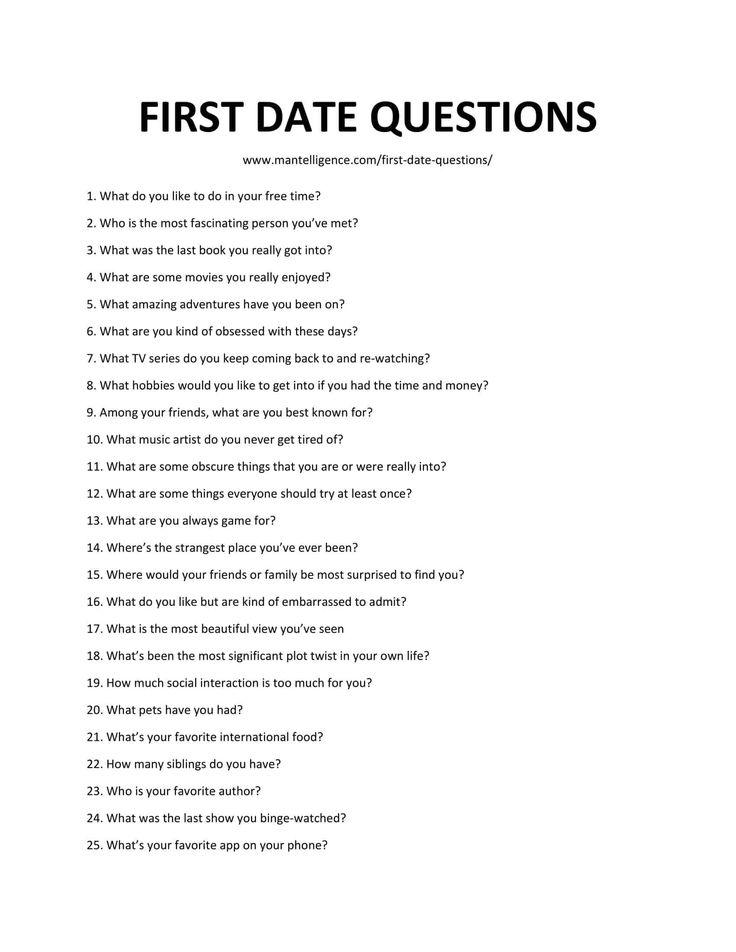 First date questions for teens