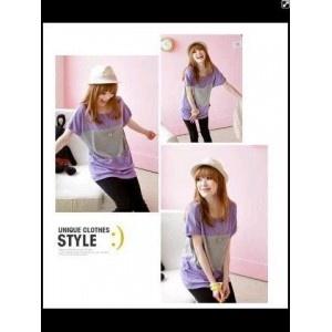 Grosir Pakaian Korea   Model Style Ungu