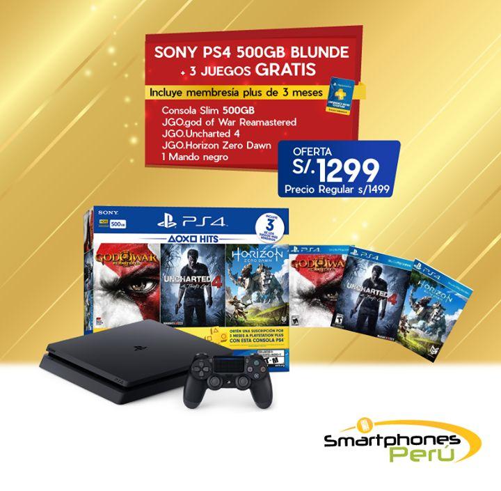 🎉 ¡La consola más vendida del 2017! 🎉  PS4 BUNDLE 2 🎮 Consola de 500GB + Mando + 3 Juegos + Membresía de 3 meses a solo S/1,299  🚨 UNIDADES LIMITADAS 🚨  Compra en nuestras tiendas aquí 👇 🌟 Garantía   📞980 034 076  Envíos a todo el Perú  🏠 Av. La Encalada 1171 Of.302 Santiago de Surco 🏠 Av. Petit Thouars 5356 Módulo #3 Primer Nivel - CC. Compupalace Miraflores. 🏠 Av. La Molina 1167 Tnda. 132 - CC. La Rotonda La Molina. #drones#watches