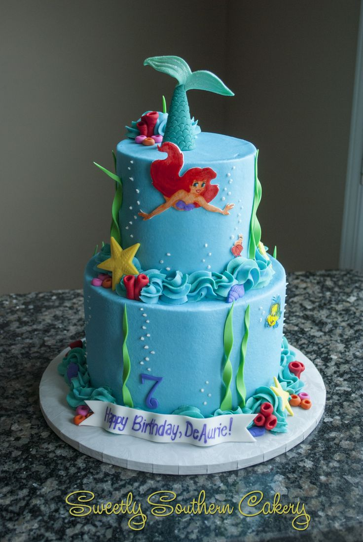 Little Mermaid Cake; Ocean Cake; Under the Sea Cake (Mermaid Cake)