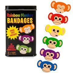 When you're in pain, it helps to think of rainbow monkeys. The best way to think of rainbow monkeys it to put a rainbow monkey bandage on y...