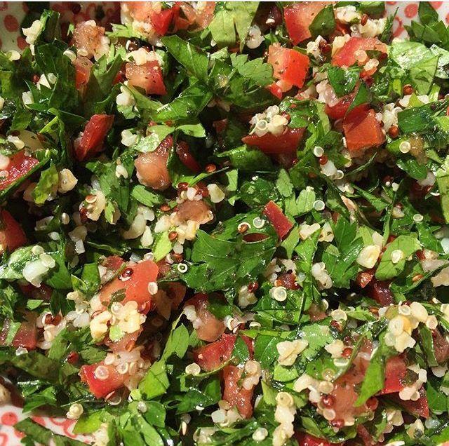 Mon taboulé vert, persil, tomate, quinoa