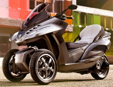 peugeot hybrid3 evolution three wheel scooter automotive. Black Bedroom Furniture Sets. Home Design Ideas