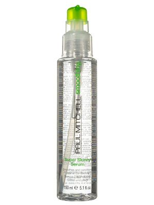 Paul Mitchell Smoothing Super Skinny Serum fights frizz, speeds drying time, and leaves a glossy finish
