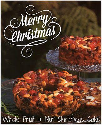 Whole Fruit and Nut Christmas Cake