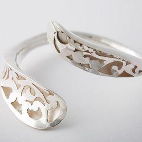 Hollow Form Sterling Bracelet by Hannah Cowan