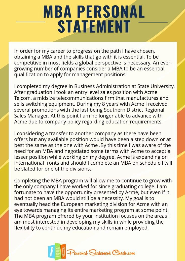 Personal Statement Letter Example Awesome Pin By Sample On Mba Busines And Law