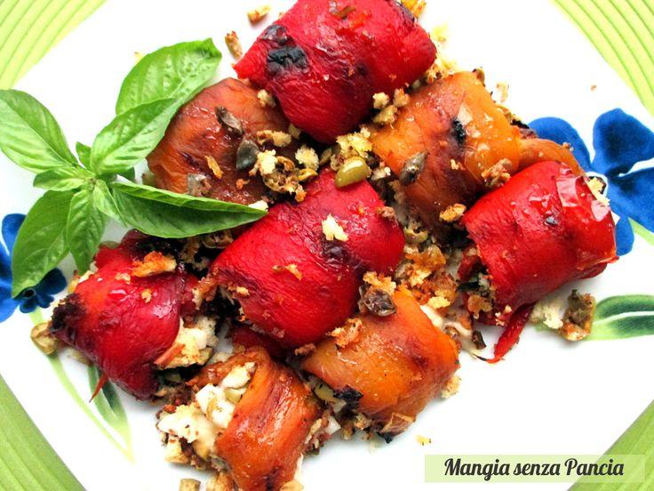 Involtini di peperoni vegan saporiti, Mangia senza Pancia