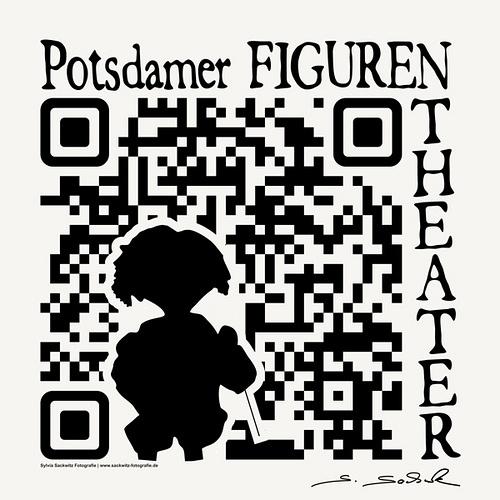 QR-Code vom Potsdamer Figuren-Theater. Quelle: http://www.sackwitz.com für http://www.potsdamer-figurentheater.de