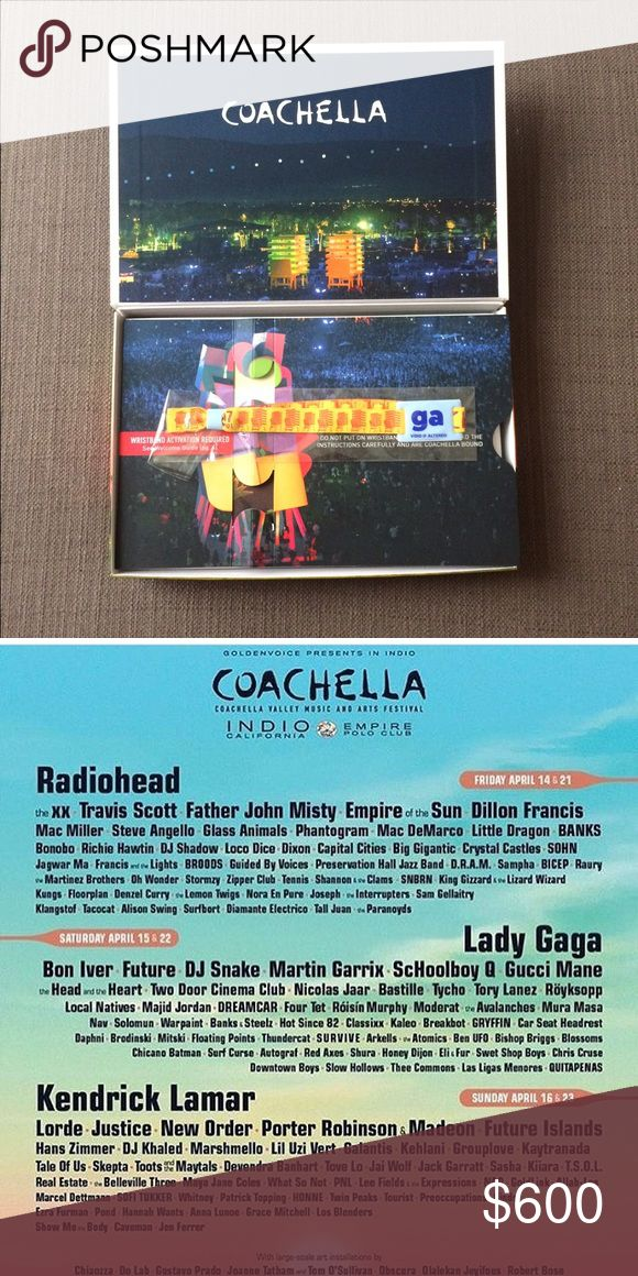 Coachella Ticket One 3 day general admission pass to Coachella 2017 Weekend 1, April 14, 15, & 16 Other