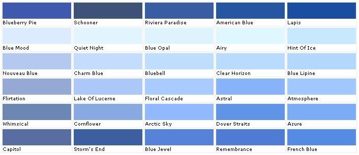 Valspar Paint Color Chart