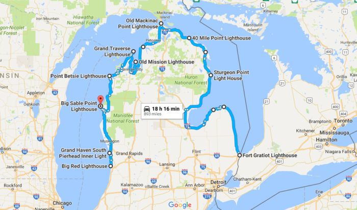 10 Of The Best Road Trips To Take In Michigan In 2017